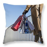 Time For Shopping Throw Pillow