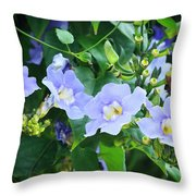 Time For Spring - Floral Art By Sharon Cummings Throw Pillow