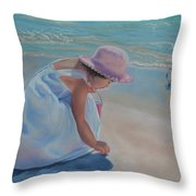 Time For Treasures Throw Pillow by Holly Kallie