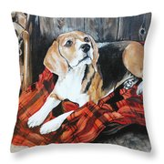 Time For Walk Throw Pillow