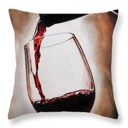 Time For Wine Throw Pillow