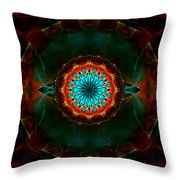 Time Gate Throw Pillow by Hanza Turgul