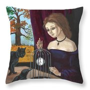 Time In The Cage Throw Pillow