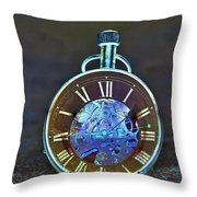 Time In The Sand In Negative Throw Pillow