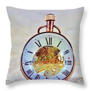 Time In The Sand Throw Pillow