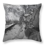 Time Is A Target Throw Pillow