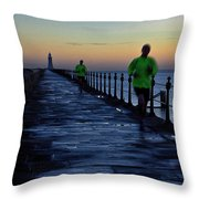 Time Lapse Runner Throw Pillow
