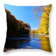 Time Moving On Throw Pillow