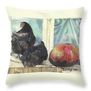 Chicks Taking A Time Out Throw Pillow