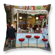 Time Out Snack Bar In Bath England Throw Pillow