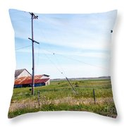 Time Passed By Throw Pillow