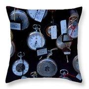 Time Piece Throw Pillow