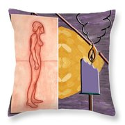Time Running Out Throw Pillow