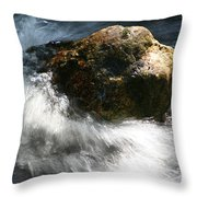 Time Rushing By Throw Pillow