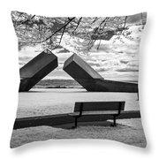 Time Sculpture - Infrared Throw Pillow