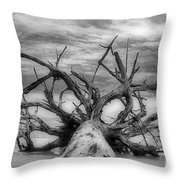 Time Sea And Sand Throw Pillow