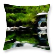 Time Slows For Meditation Throw Pillow