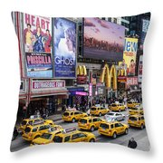 Time Square On A Week Day Throw Pillow