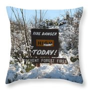 Time To Change The Sign Throw Pillow