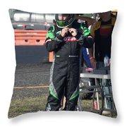 Time To Race Throw Pillow