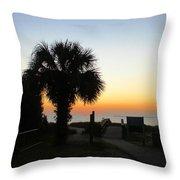 South Carolina Edisto Beach Throw Pillow by Ella Char