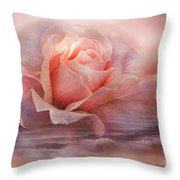 Time To Say Goodbye Rose Throw Pillow
