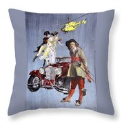 Time Travel With Oldtimer Throw Pillow