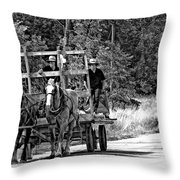 Time Travelers Bw Throw Pillow