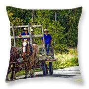 Time Travelers Throw Pillow