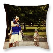 Time Travels Throw Pillow