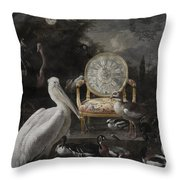 Time Waits For No One Throw Pillow by Terry Fleckney