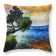 Time Well Spent - Medina Lake Throw Pillow