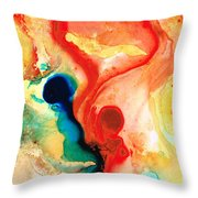 Time Will Tell - Abstract Art By Sharon Cummings Throw Pillow