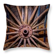 Time Worn Wheel Throw Pillow