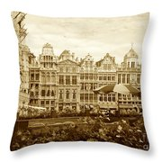 Timeless Grand Place Throw Pillow by Carol Groenen