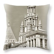 Timeless- New York City Hall Throw Pillow