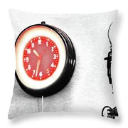 Times Red Throw Pillow