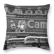 Times Square Advertising Throw Pillow