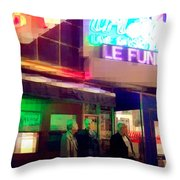 Times Square At Night - Le Funk Throw Pillow