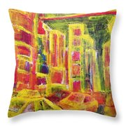Times Square At Night Non Stop Throw Pillow