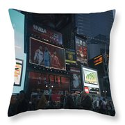 Times Square At Night Throw Pillow