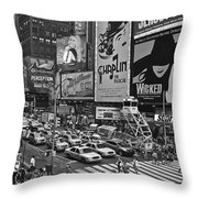 Times Square Bw Throw Pillow