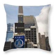 Times Square Color Throw Pillow