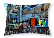 Times Square Energy Throw Pillow