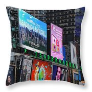 Times Square - Looking South Throw Pillow