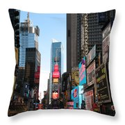 Times Square - New York I Throw Pillow