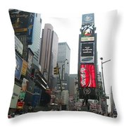 Times Square Throw Pillow by Georgia Fowler