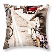 Times Square Ride Throw Pillow