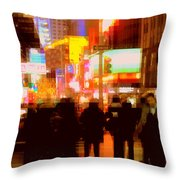 Times Square - The Lights Of New York Throw Pillow