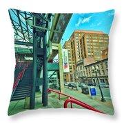 Times Union Stairwell Throw Pillow